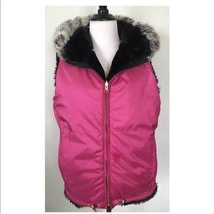 Obermeyer Reversible Vest Faux Fur